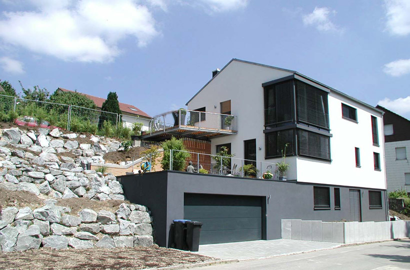 C c architekten bda for Einfamilienhaus am hang grundrisse